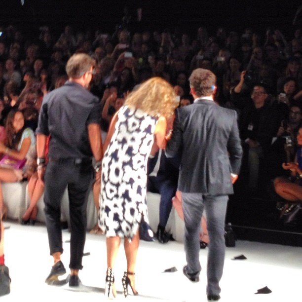 DVF takes a bow — who knew that it would be creative director Yvan Mispelaere's last?