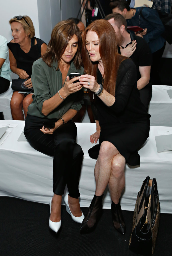 Carine Roitelf and Julianne Moore