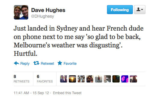Dave Hughes gets protective of his city.