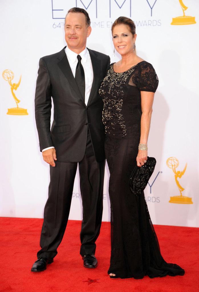 Tom Hanks and Rita Wilson posed side-by-side.