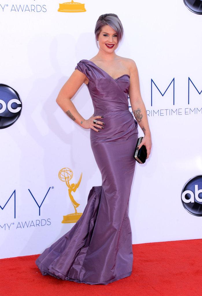 Kelly Osbourne posed in her Zac Posen dress.
