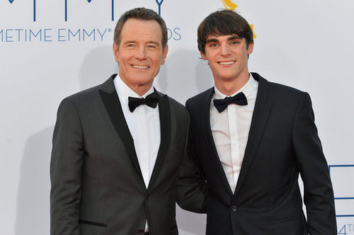 Bryan Cranston posed with RJ Mitte.