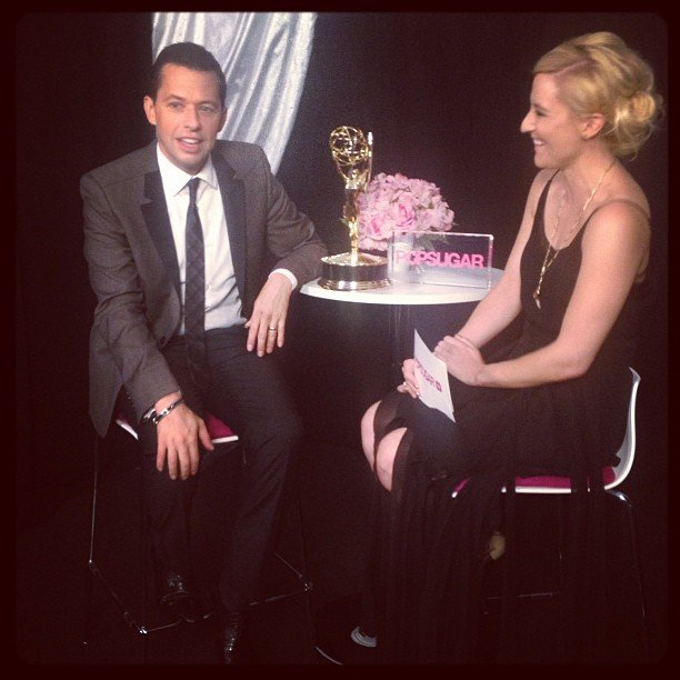 Winner Jon Cryer sat down with us backstage after accepting his Emmy. Source: Instagram user popsugar