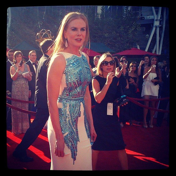 Nicole Kidman sparkled on her way into the theater. Source: Instagram user instylemagazine