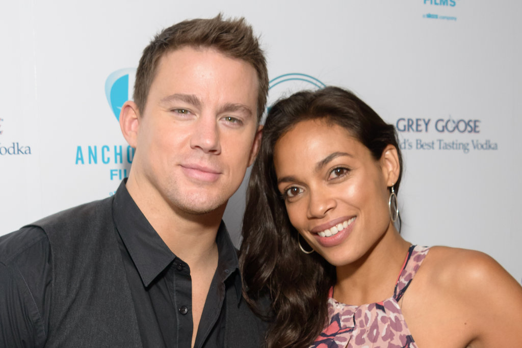 "Photo of Rosario Dawson & her friend actor  Channing Tatum - Movie ""A Guide to Recognizing Your Saints"""