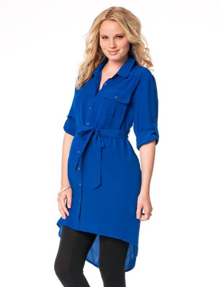 High-Low Hem Maternity Tunic ($59)
