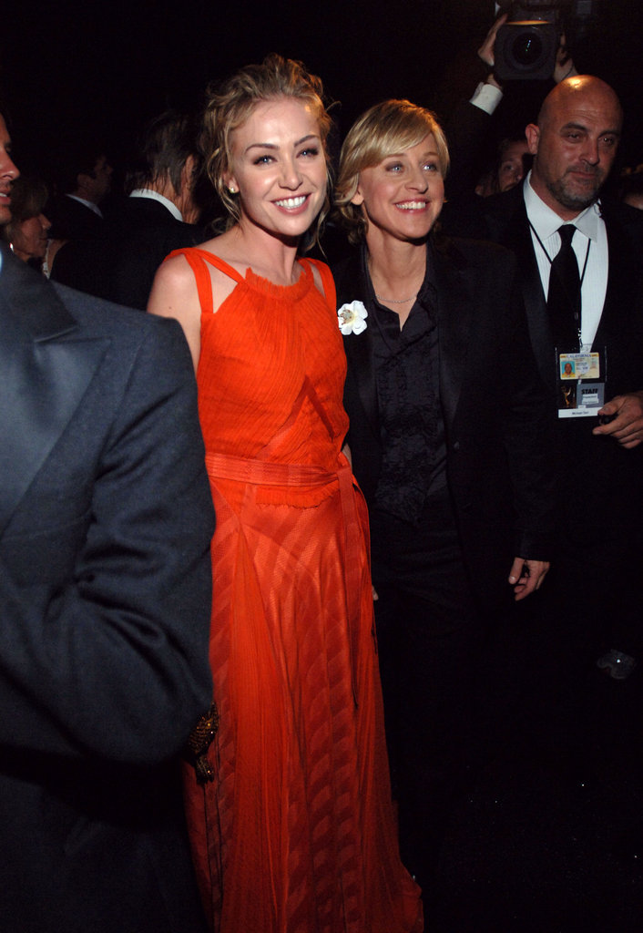 Portia de Rossi accompanied Ellen DeGeneres to the show in 2005.