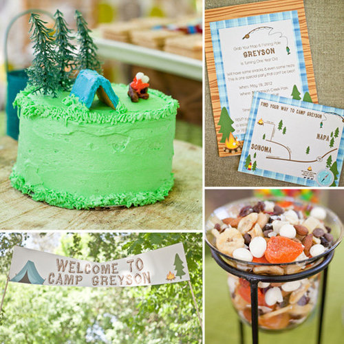 Cute, Camping-Inspired Party