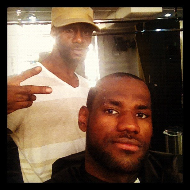 LeBron James showed off his haircut. Source: Instagram user kingjames