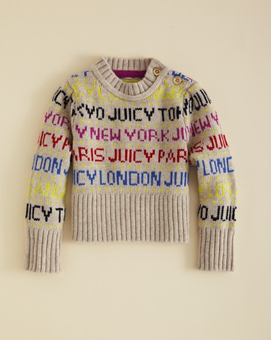 Juicy Couture Girls' Cities Fair Isle Sweater ($98)