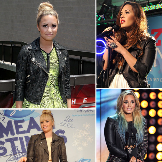 Share This Link Copy. Image Source: WireImage. 1. Demi Lovato's Fashion Obsession: Leather Biker Jackets