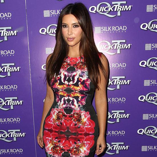 Kim Kardashian Wearing Colorful Dress