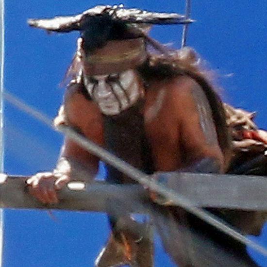 Johnny Depp on Lone Ranger Set   Pictures