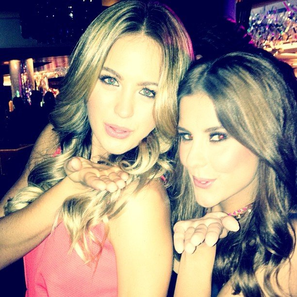 Jesinta Campbell and Lauren Phillips blew kisses to the camera. Source: Instagram user jesinta_campbell