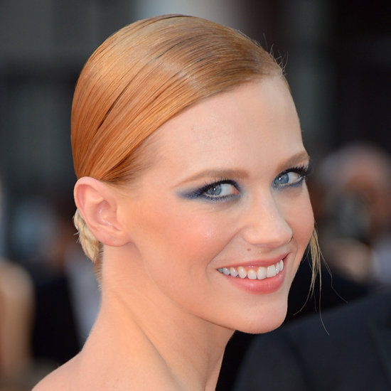 The Spring 2013 Blue Eyeshadow Trends Seen at the 2012 Emmy Awards on Nicole Kidman and January Jones