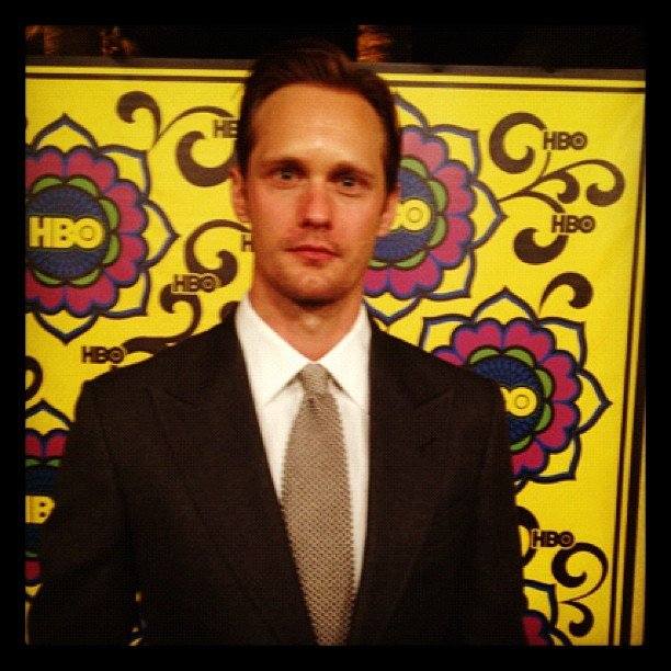 Alexander Skarsgård looked sharp in a suit. Source: Instagram user hbo