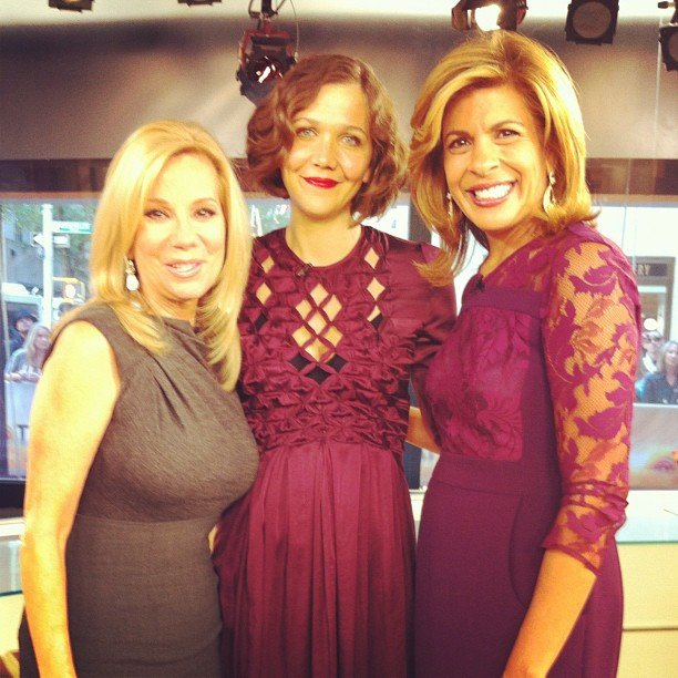 Maggie Gyllenhaal stopped by Today to chat with Kathie Lee and Hoda Kotb. Source: Instagram user todayshow