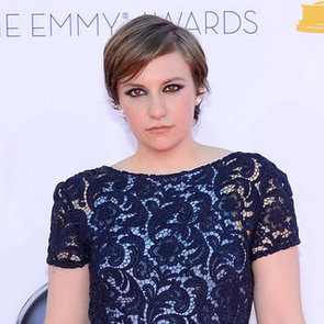 Picture of Lena Dunham's Hair and Makeup at the 2012 Emmy Awards