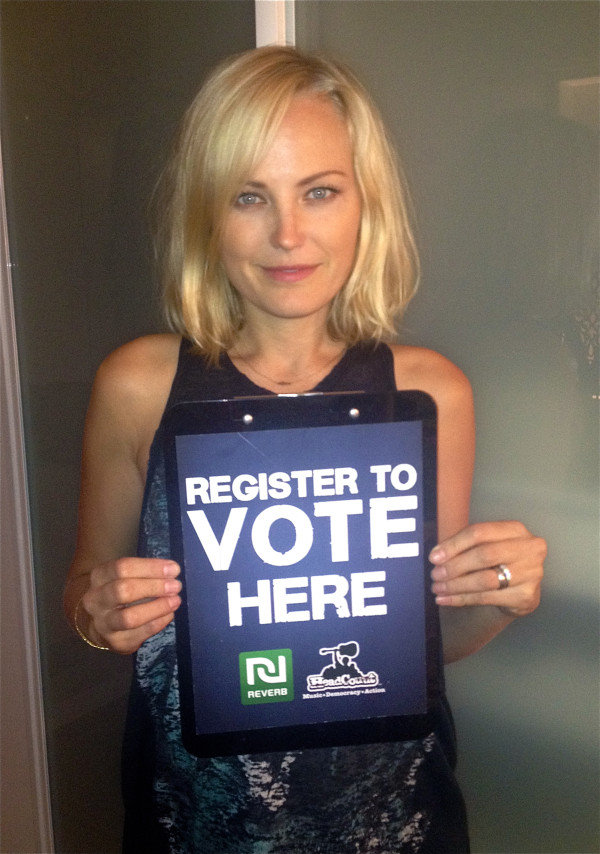Malin Akerman urged her Twitter followers to register to vote. Source: Twitter user MalinAkerman