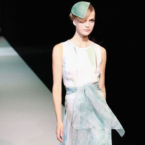 Pictures and Review of Giorgio Armani Spring Summer Milan Fashion Week Runway Show