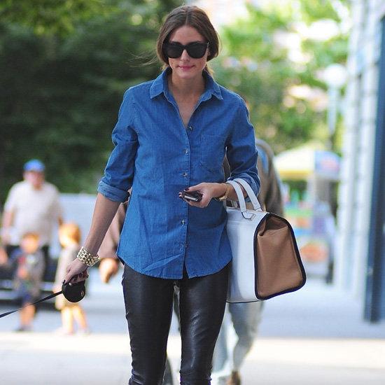 Olivia Palermo Wearing Denim Shirt