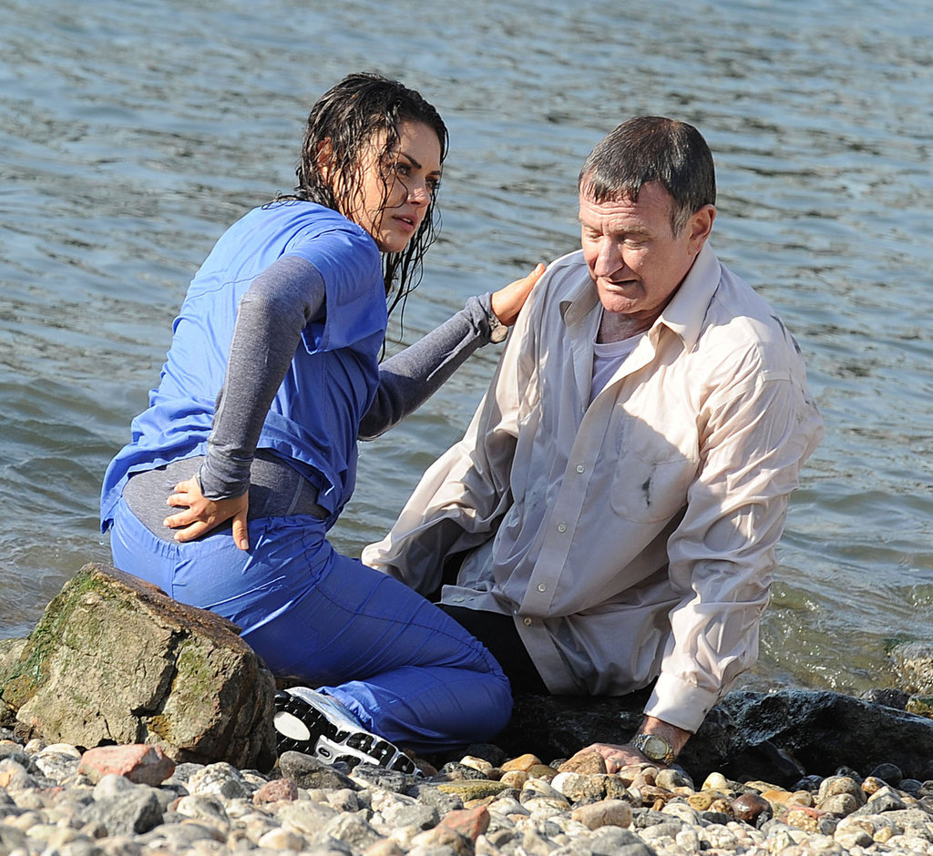 Mila Kunis and Robin Williams filmed The Angriest Man in Brooklyn