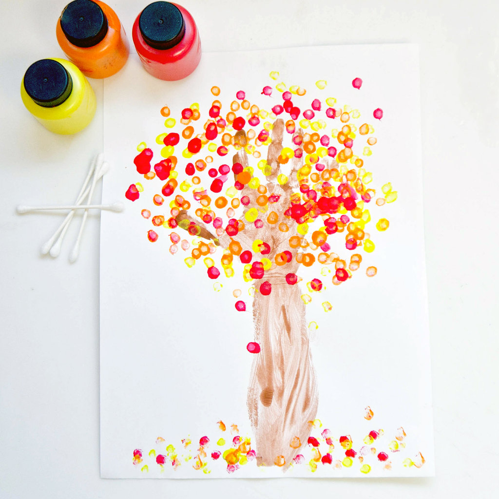 Fall handprint tree craft for kids popsugar moms for Fall craft ideas for toddlers