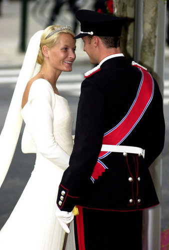Prince Haakon and Mette-Marit Tjessem Hoiby  The Bride: Mette-Marit Tjessem Hoiby, a single mother with a party-girl reputation. The Groom: Prince Haakon, crown prince of Norway. When: Aug. 25, 2001. Where: Oslo Cathedral.
