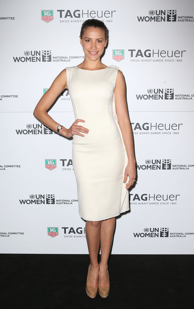 Rachael Finch was every inch a lady in this structured Carl Kapp dress. As usual, Christian Louboutin heels capped the look off perfectly.