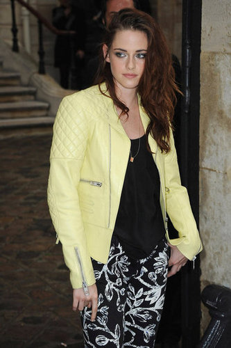 We can't get over how cool her pastel yellow jacket was, and the details were what made it just so enviable. The quilted shoulders, zippered inserts, and asymmetrical cut all worked perfectly together.