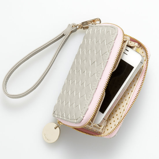 Get organized, and feel good about it! This Deux Lux for Everything But Water Wristlet ($44) converts easily to a wallet and is made out of animal-friendly products. Twenty-five percent of the proceeds of each sale will be donated to Living Beyond Breast Cancer.