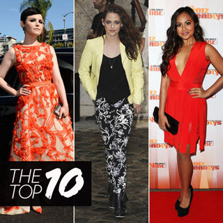Top Ten Best Dressed: Kristen Stewart In Balenciaga, Ginnifer Goodwin in Monique Lhuillier