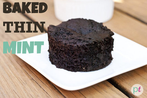 baked thin mint chocolate cake (vegan)