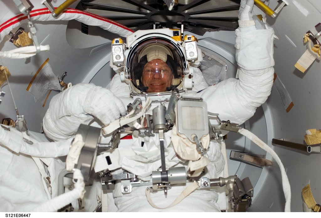 Third Space Walk of NASA's Final Space Shuttle Mission