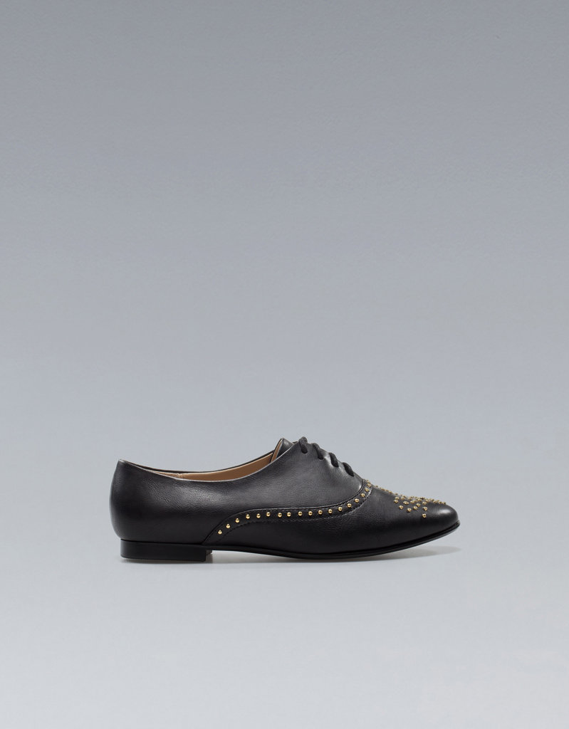 Channel a little edginess in the preppy staple via studs like on these Zara Studded Bluchers ($50).