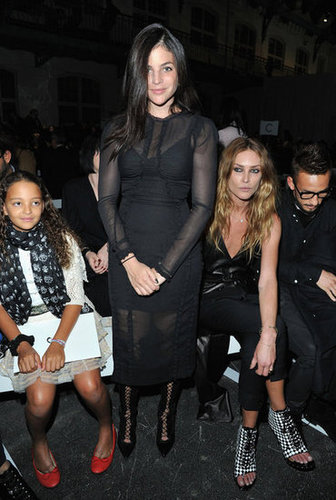 Julia Restoin Roitfeld shows off some skin, but not in an overt kind of way, with the help of some very sexy (and strategic) use of sheerness at Givenchy.