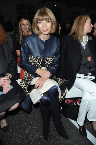 Anna Wintour surprised us with a hint of her exotic side at Givenchy.