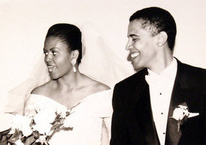 Michelle and Barack Obama Wedding Picture and Quotes