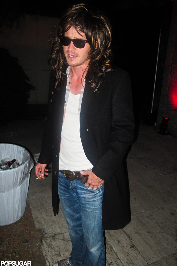 Garrett Hedlund wore a wig to an LA party in 2011.