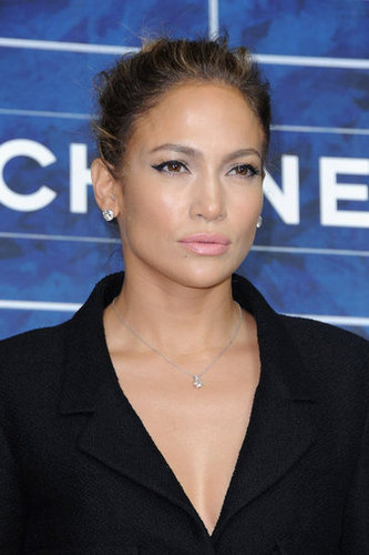Jennifer Lopez posed for Chanel's Paris Fashion Week show.