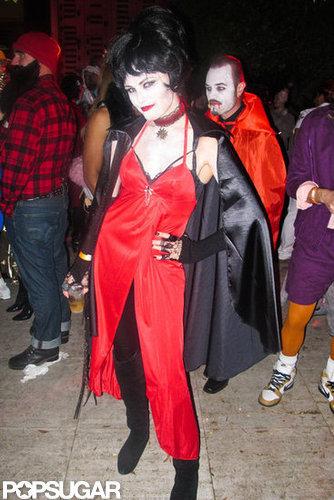 Malin Akerman got spooky for an LA bash in 2011.
