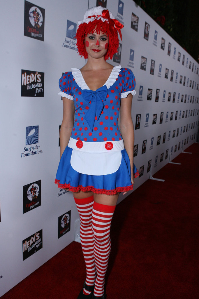 Stacy Keibler went to an LA party as Raggedy Ann in 2007.