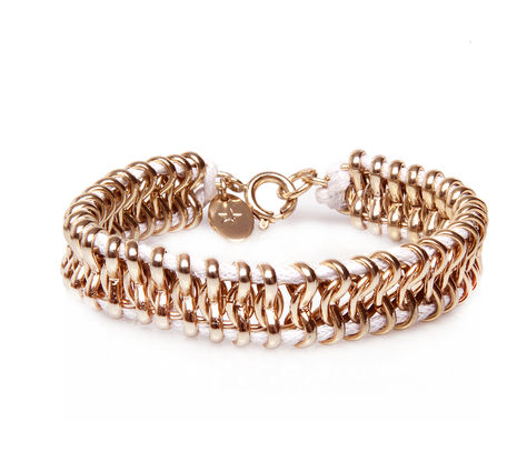 This KG Kurt Geiger Cassie Bracelet ($30) has a thin piece of rope intertwined in it for a cool contrast.