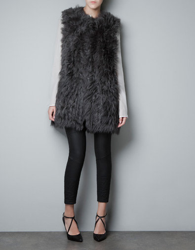 Make a furry Fall statement in this Zara Long Fur Waistcoat ($399). Wear alone or paired with a long wool coat.