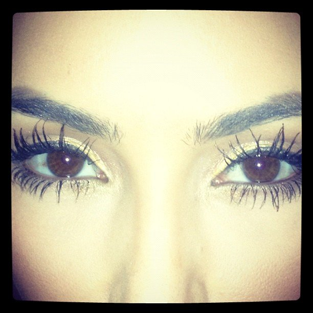 Kim Kardashian took a close-up shot of her eyelashes.  Source: Instagram user kimkardashian