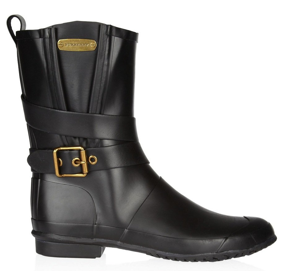 This wraparound buckle-infused Burberry Rubber Mid-Calf Boot ($275) provides an easy dose of downtown cool.