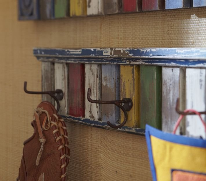 Multi-Colored Hook Rack