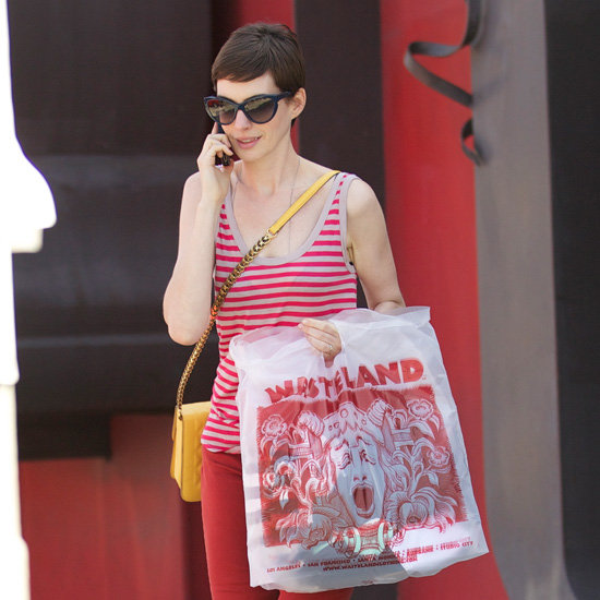 Anne Hathaway Wearing Red Jeans