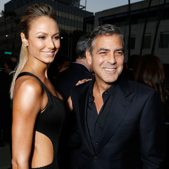 George Clooney, Girlfriend Stacy Keibler And Ben Affleck At Argo Premiere