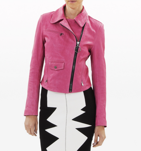 This supercool saturated pink Kelly Wearstler Newton Leather Jacket ($1,195) will add a pop of color to all of your Fall neutrals. And, 10 percent of all proceeds directly benefits the Breast Cancer Research Foundation.
